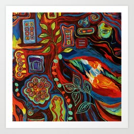 Colorfulness 2 Art Print