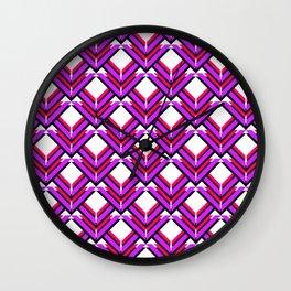 Purple Red Orange Pattern Wall Clock