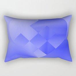 Danish Heart Blues Rectangular Pillow