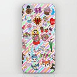 I Love Stickers iPhone Skin