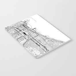 Chicago White Map Notebook