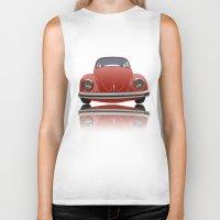 vw Biker Tanks featuring VW Beetle by Nove Studio