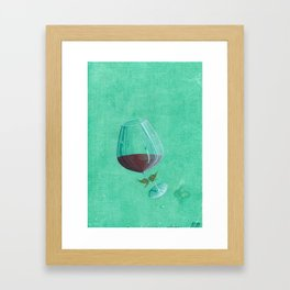 Wine Fairies 3 - Merlot Framed Art Print