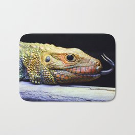Caiman Lizard Profile Bath Mat