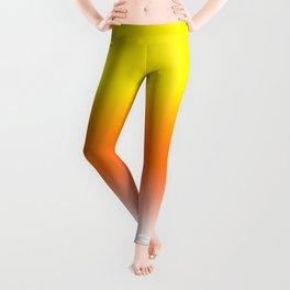 Yellow Orange and White Halloween Candy Corn Leggings
