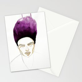 Morgan's Hair is on Purple Fire Stationery Cards