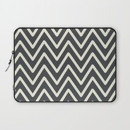 Chevron Wave Asphalt Laptop Sleeve