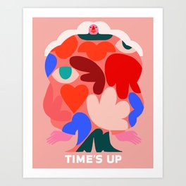 TIME'S UP by Amber Vittoria Art Print