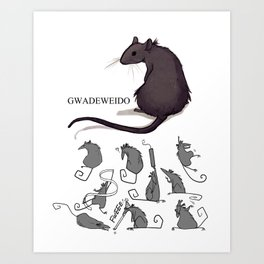 Feeling Ratty Art Print