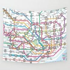 Tokyo Subway Map Wall Tapestry