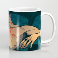 moulin rouge Mugs featuring Rouge by Jemma Salume