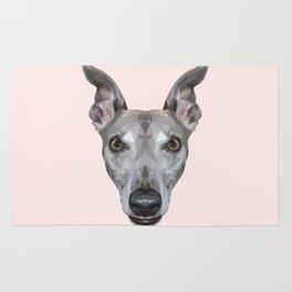 Whippet // Pastel Pink (Vespa) Rug