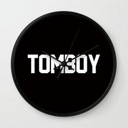 Tomboy Varsity Typography Wall Clock