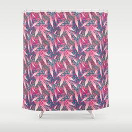 Flamingo Feather Flock Shower Curtain