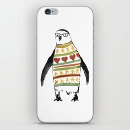 Cute penguin with a sweater iPhone Skin