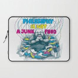 Philosophy is not a junk food Laptop Sleeve
