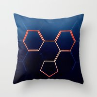 fullmetal alchemist Throw Pillows featuring THE ALCHEMIST by James Alex Davies