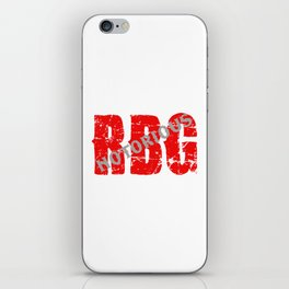 NOTORIOUS RBG - GRUNGE FONT iPhone Skin