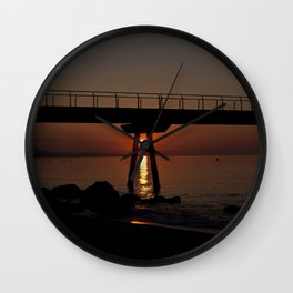 In the middle of the sunrise Wall Clock
