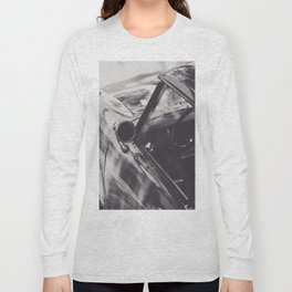 Triumph Spitfire, Elegant Black & White photo of an aerodynamic chassis from a Supercar Long Sleeve T-shirt