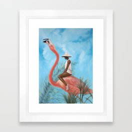 Marriage at the Plastic Garden Framed Art Print