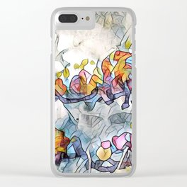 Splashes Of Stained Glass by CheyAnne Sexton Clear iPhone Case
