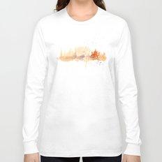 Watercolor landscape illustration_Rome - Colosseum Long Sleeve T-shirt