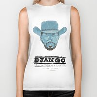 django Biker Tanks featuring Django by kjell