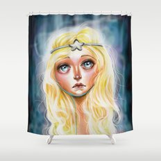 Celeste :: Pretty Little Scamp Shower Curtain