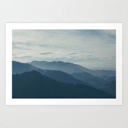 Wild Blue Mountains Art Print