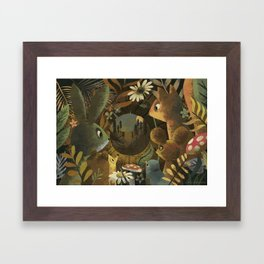 The Look Out Log Framed Art Print