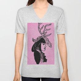 Deer Woman - Pink Palette Unisex V-Neck