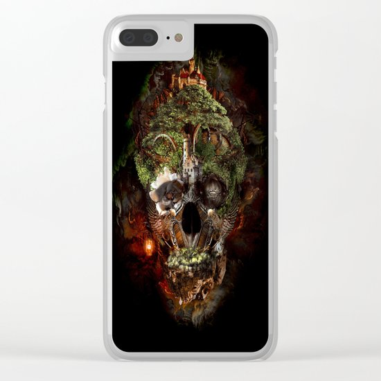 Skull Castle Clear iPhone Case