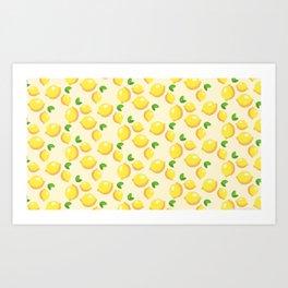 Lemon limon seamless art colour lines triangle look rest eyes color new artist fun mixed pattern swe Art Print