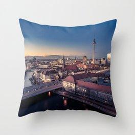 Golden Berlin Throw Pillow