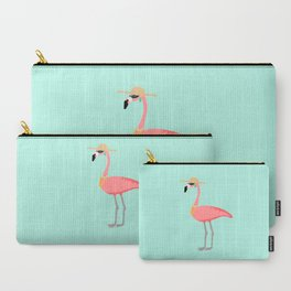 Flirty Flamingo Carry-All Pouch