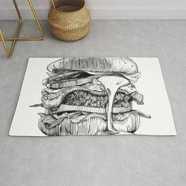 Mac'n ink Burger Rug