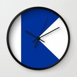 Alpha Flag Wall Clock
