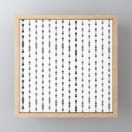 Multi-faceted decorative lines 15 Framed Mini Art Print