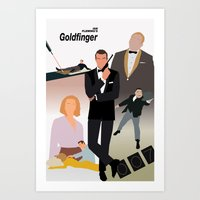 Ian Fleming's Goldfinger Art Print