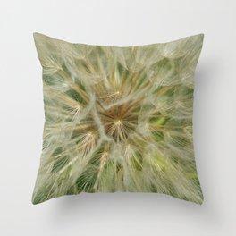 Dandelion Fluff Seed Pod Flower Pland Weed Summer Throw Pillow