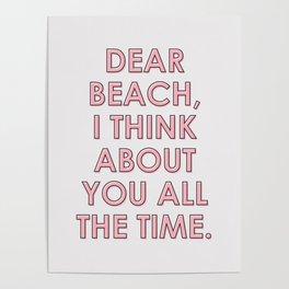 Dear Beach #societ6 #decor #buyart Poster