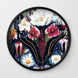 Italians Wildflowers by Joseph Stella Wall Clock
