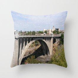 Monroe Street Bridge in Spokane Washington Throw Pillow