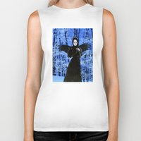 edgar allan poe Biker Tanks featuring Nevermore - Edgar Allan Poe by Danielle Tanimura