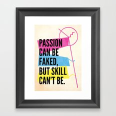 #passion Framed Art Print
