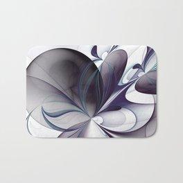 Easiness, Abstract Modern Fractal Art Bath Mat