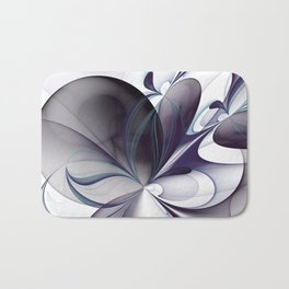 Easiness, Abstract Modern Fractal Art Bath Mat