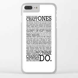Here's To The Crazy Ones - Steve Jobs Clear iPhone Case
