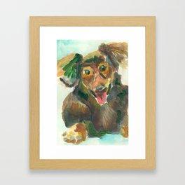 Jumpy Puppy Framed Art Print